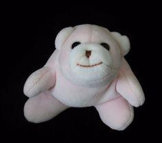 "Baby Gund Velour Pink Snuffles Rattle Plush Soft Toy 4.5"" Tiny  #BabyGund"