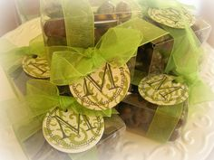 Wedding favors, chocolate covered coffee beans