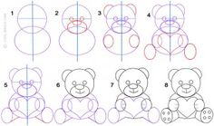 how to draw a teddy bear step by step