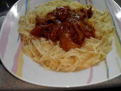 Καλαμαρακια κοκκινιστα με χυλοπιτες :: Μπαχάρι & Κανέλα Pasta Recipies, Crepes, Spaghetti, Fish, Ethnic Recipes, Noodle, Ichthys