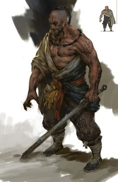 Some humans have forgone their faith of the Allfather for the gods of other races, such as this monk of the Divine Kami, the benevolent spirits of the Orcs