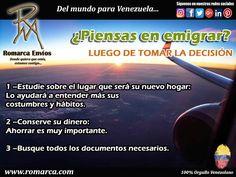 Si estas pensando en emigrar acá te dejamos unos consejos que te servirán de mucho . #Venezuela #Usa #Alemania #Argentina