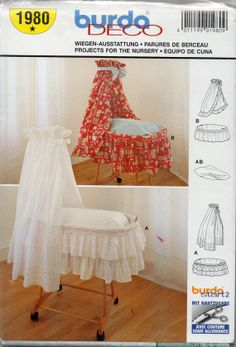 Burda 1980  Baby Accessories for Bassinet Pattern by mbchills, $7.00