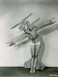 Vintage airplane costume