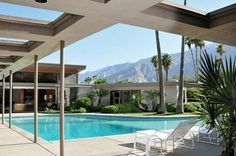 Frank Sinatra's Twin Palms villa with grand piano shaped pool