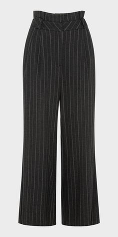 Made from a flannel double stripe from Europe, this wide leg pant features a paper bag waistline with belt loops, finished with back welt pockets. Fully lined. Fastened with a metal zip at the centre back. Made in Australia.