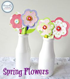 SpringPaper Flowers Craft    Kids Craft Ideas  Spring Craft