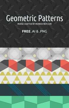 We have a brand new Freebie Friday: 6 Quirky Geometric Patterns. They're bold, modern, and will add some punch to whatever design project you're working on. Happy Friday! #freepsd #webdesign #psd