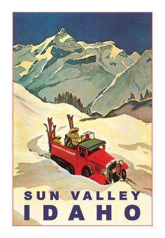 Vintage Sun Valley Idaho Poster #idaho #sunvalley