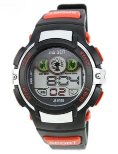 Fashion Multi Function Electronic LED Waterproof Wrist Sport Watch Outdoor Watches Red. Imported High quality movement with rubber band. Multi Function:Alarm, calendar, week display, Chronograph, Back light. 30 meters waterproof (not for diving and do not press button under water). Resin band with buckle closure. Fashionable, very charming for all occasions. Amazing looking watch, a great gift for friends.