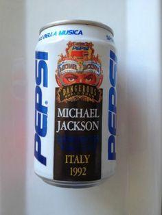 Michael Jackson 1992 Italy Pepsi Can - http://www.michael-jackson-memorabilia.com/?p=8014
