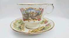 Paragon Chippendale Vintage English Teacup Cottage and Peacock