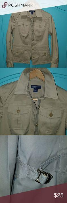 JONES NEW YORK SIGNATURE (S) IN NEW CONDITION CAUSAL KHAKI JACKET Jones New York Jackets & Coats Blazers