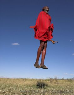 Masai jumping style - Christian and I watched a show featuring this tribe last night. A mans worth is decided by how high they can jump. How interesting!?