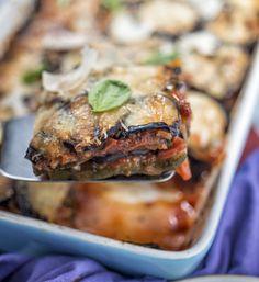 Aubergine and courgette Parmesan bake - Diabetes UK Celery Recipes, Uk Recipes, Veggie Recipes, Cooking Recipes, Healthy Recipes, Goji Berry Recipes, Recipe Search, Fruit And Veg, Recipes