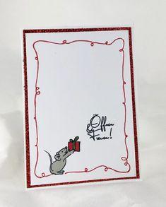 Diese Karte ist wirklich schnell gemacht, für den weihnachtlichen Glanz sorgt rotes Glitterpapier.  Karten-Kunst Clear Stamp Set - Viecher zum Fest, Karten-Kunst Clear Stamp Set - Typomix Weihnachten  #Karten-Kunst #kartenkunstshop #kartenbasteln #cardmaking #papercraft #kartendesign #stempel #stamping #Maus Happy Paintings, Sketching, Books, Homemade Cards, Handmade Cards, Map Art, Stamping, Sparkle, Libros
