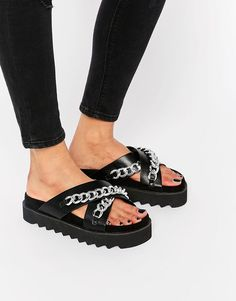 ASOS+FOUNDED+Chain+Flat+Sandals