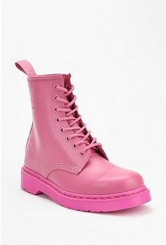 The problem with weekend long festivals is the dirt, mud and grime you have to endure- protect your feet and rock a cute color with these Dr, Martens Monotone 1460 boot in bubble gum pink from @urbanoutfitters. Rock these with a cute floral skirt & a white tank for comfort & ease... simple concert style! #style #fashion #coachellastyle