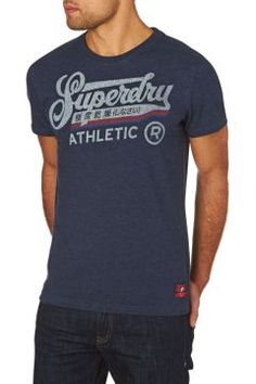 Superdry T-Shirts - Superdry Double Drop Winged T-Shirt - Blue https://modasto.com/superdry/erkek-ust-giyim-t-shirt/br18884ct88