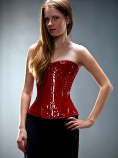 64f5f6f64 red real waist training corset Pvc Corset