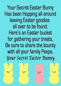 Easter Hunt Idea for Kids: Secret Easter Bunny poem + Free Printable