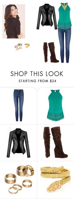 """""""Azalea, 2"""" by locksley-cxli ❤ liked on Polyvore featuring Frame Denim, maurices, Michael Antonio, Apt. 9 and Cartier"""