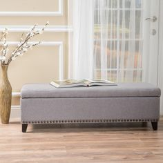 Christopher Knight Home Isra Fabric Storage Ottoman Bench   Overstock.com  Shopping   The Best