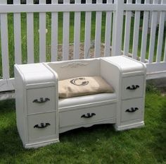 Well it seems that every time I turn around someone is posting a picture of antique/vintage furniture sporting a new coat of paint in whit...