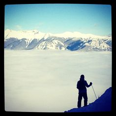 My handsome man taking in the view at Kicking Horse #inversion #kickinghorse #skiing