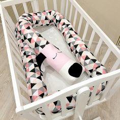 Baby crib bumper SLEEPY DOG baby pillow dog