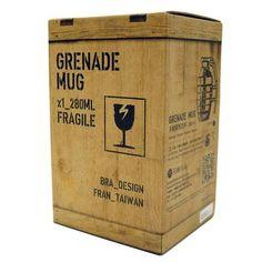 Mug en forme de véritable grenade pour les amateurs de guerre et de café !