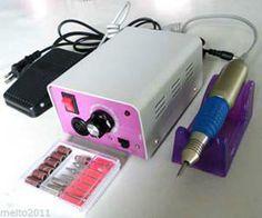 Nail Salon Professional electric acrylic nail drill file machine kit with bits  #New