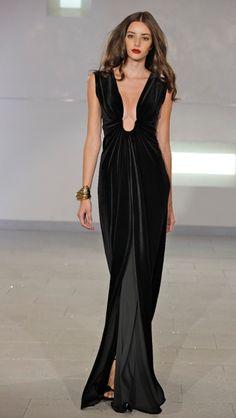 Marc Bouwer velvet gown