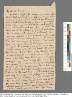 Letter to Fanny Brawne.