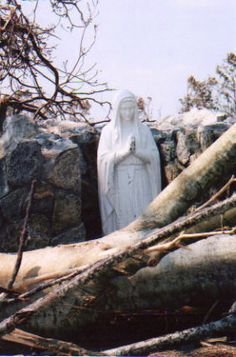 Saw this with my own eyes when I was doing hurricane relief there. The Blessed Mother Grotto at St. Clare Catholic Church in Waveland, MS after Hurricane Katrina -- the only thing left standing on the grounds. Catholic Saints, Roman Catholic, Catholic Religion, Blessed Mother Mary, Blessed Virgin Mary, Images Of Mary, Queen Of Heaven, Mama Mary, Mary And Jesus