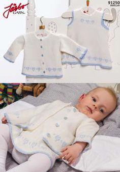 Cardigan, and dress with heart pattern. Preemie Baby knitting pattern free hearts.  Sizes 38-86 cm  Gauge 27-28 st needles 3mm = 10 cm  pdf pattern in swedish http://media.jarbo.se/patterns/pdf/91250_low.pdf