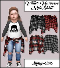 Lana CC Finds — lumy-sims: Vittler Universe Nylo Shirt for. The Sims 4 Pc, Sims Four, Sims 4 Cas, Sims Cc, Sims 4 Toddler Clothes, Sims 4 Cc Kids Clothing, Sims 4 Mods Clothes, Toddler Stuff, The Sims 4 Bebes