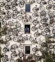 wall o' bicycles
