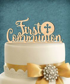 Adorn a First Communion cake with this cake topper. Shipping note: This item is made for zulily. Please allow extra time for your special find to ship.