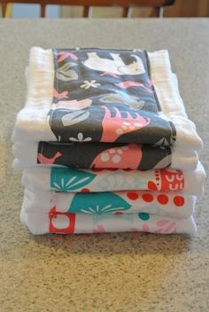 DIY adorable burp clothes