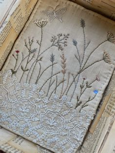 More doilies. And love the grasses embroidery.