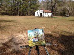 the accidental artist: Outside Marianna - my painting in the landscape