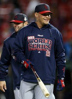 Yadier Molina World Series Game 2 2013 Fenway Park Cardinals @ Red Sox
