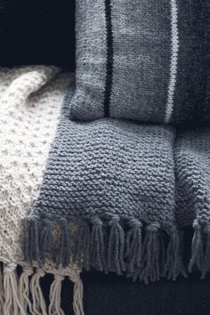 Nordic Yarns and Design since 1928 Lace Knitting, Knit Crochet, Cosy, Crochet Patterns, Textiles, Beige, Knits, Blanket, Handmade