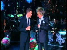 Rod Stewart duets with Michael Buble - Home for the holidays Christmas Special 2012