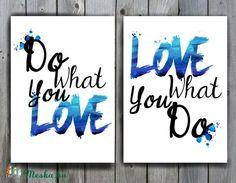 Modern Print, motivációs idézet, falikép, Love dekor, Print, kép, Iroda Dekor…