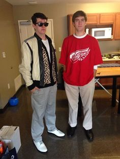 Hallowen Costume Couples If you know who these guys are then you are a true nerd(Ferris Bueller and Cameron! 80s Halloween Costumes, Creepy Costumes, 80s Costume, Costumes For Teens, Cute Halloween Costumes, Group Costumes, Couple Halloween, Costume Ideas, Male Costumes