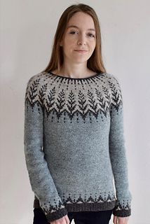 "Vintersol (""winter sunshine"") is inspired by a walk in a frosty, wintery meadow. This example is made with a soft and wooly double strand of Camilla Vad yarn, Fair Isle Knitting Patterns, Knitting Stiches, Sweater Knitting Patterns, Knit Patterns, Hand Knitting, Pullover Design, Handgestrickte Pullover, Sweater Design, Crochet Shirt"