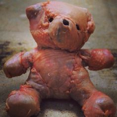 This is both grotesque and adorable. Cutlet Bear.