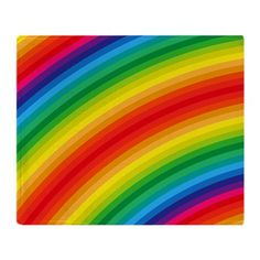 Rainbow Striped Pattern Throw Blanket on CafePress.com